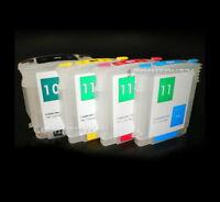 mini CISS Quick Fill befüllbare Druckerpatronen 10 11 BK Y M C XL C4844 für HP