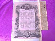 OBLIGACION FERROCARRILES DIRECTOS MADRID Y ZARAGOZA A BARCELONA 1883