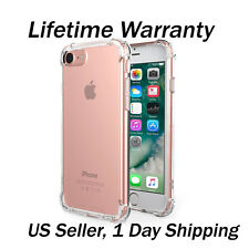 For Apple iPhone 7 Plus Case Silicone Clear Cover Bumper Rubber Protective TPU,.