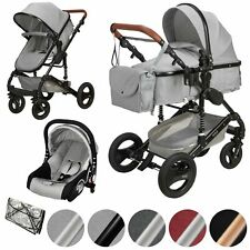 ib style®  SOLE 3in1  Kinderwagen Buggy Reisebuggy inkl. Auto- Babyschale 0-15kg