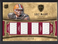 Colt McCoy 2010 Topps Supreme Rookie Quad Jersey Relic Card Browns 11/15