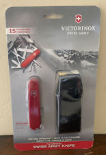 Victorinox Swiss Army Knife Huntsman with Leather Pouch - Red - Free Shipping