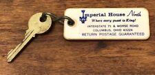 Vintage Imperial House North Columbus Ohio Motel Hotel Room Key Keychain Fob