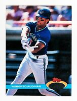 Roberto Alomar #304 (1991 Stadium Club) ERROR Card, Toronto Blue Jays, HOF