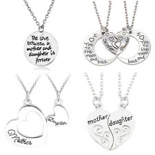 Mother And Daughter Necklace Pendant Heart Love Birthday Gifts Mum Jewelry Charm