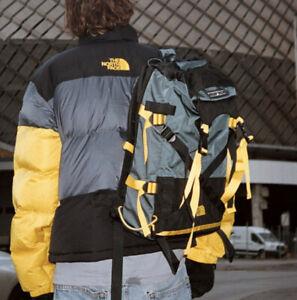 New North Face Steep Tech Pack Backpack Yellow Black Grey VTG Ski Rucksack Camp