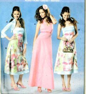Cut Sewing Pattern Ladies Back Zipper Dress Bolero Jacket size 6-8 (cut to 8)