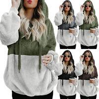 Women's Sweatshirt Hoodie Two-color Winter Zipper Pocket Pullover Sweater Top