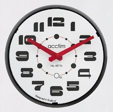 ACCTIM - BONN Black Retro Style 25cm Deep Domed Lens Wall Clock 22023 LAST ONE