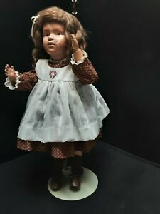 """1911 Schoenhut Wood doll 21"""" Spring Jointed Posable For Restoration"""