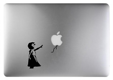 Bansky Girl decal sticker Black art for Apple Macbook 13, 15, 17 inch Air 11 13