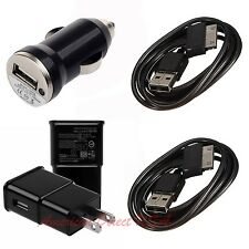 2.0A Wall+Car Charger + 2 X USB Data Charger Cable For Samsung Galaxy TAB TABLET