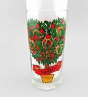 """VTG Anchor Hocking 12 Days of Christmas """"5th Day """" REPLACEMENT Drinking Glass"""