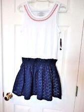 NEW Girls sz XL 16 Tommy Hilfiger $45.50 White TANK TOP NAVY Skirt Dress NWT YES
