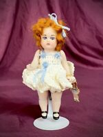 "Tiny 5"" Antique Reproduction German All Bisque Doll Miniature Mignonette & Charm"