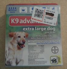 K9 Advantix II for Extra Large Dogs Over 55 lbs - 4 Pack **New & Free Shipping**