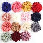 20PCS 7.5CM Lace Fabric Hair Flowers For Boutique Headbands Wedding Decoration