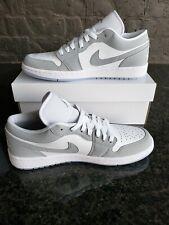 Air Jordan 1 Low White Wolf Grey Women Size 9.5 (Men 8.0) DC0774-105