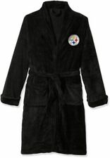 NFL Pittsburgh Steelers Northwest Silk Touch Bath Robe One Size Fits Most Black