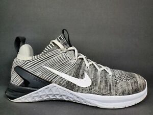 Nike Metcon DSX Flyknit 2 Womens Size 10 Shoes White Black Oreo 615806 413