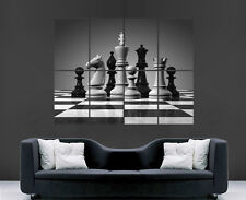 CHESS POSTER WALL ART PICTURE PRINT KING PAWN BISHOP KNIGHTS CHESSBOARD PIECES