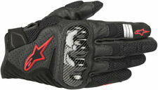 Alpinestars SMX-1 Air V2 Leather/Textile Riding Gloves (Black/Red) Choose Size