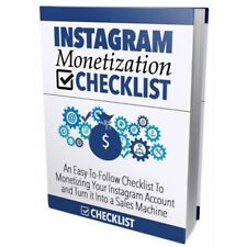 Instagram Monetization Checklist Pdf Ebook with Full Master Resell Rights
