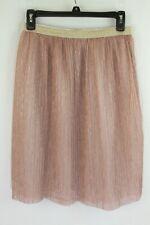 Wonder Nation Skirt Pink Gold Pleated Metallic Ballet Tutu Girl's XL 14 16 J
