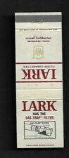 """Matchbook Cover Lark Filter Cigarettes Has The """"Gas-Trap"""" Filter *3419"""