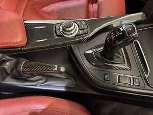 BMW 1 2 3 4 SERIES F20 F21 F22 F30 F31 F32 F34 F35 CARBON GEAR KNOB TRIM RHD LHD