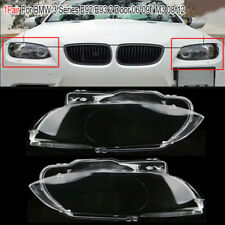Right + Left Headlight Headlamp Lens Cover For BMW E92 E93 Coupe M3 2006-2010