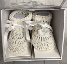 Edgehill Collection Infant Sweet Baby Gift Booties Socks Ivory Size Xs Box New