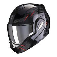 Scorpion exo Tech pulse negro rojo talla L plegable casco motocicleta Casco P/J examinado