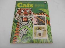 Old Vtg 1971 Golden Stamp Book Of Cats Kitten Wild Animals Tiger Lion Puma