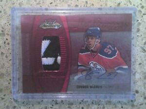 2015-16 Fleer Showcase Connor McDavid Hot Prospects Rookie Patch Auto 15/25 #189