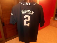 PRE-OWNED MLB MILWAUKEE BREWERS NYJER MORGAN #2 ADIDAS JERSEY YOUTH SIZE LARGE