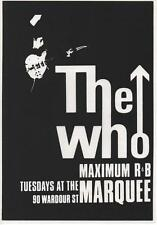 THE WHO A3 CARD PRINT. Mod, Marquee Club, Keith Moon, Scooter, Quadrophenia.