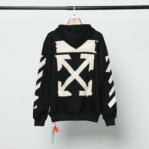 OFF WHITE UNISEX Paar Hoodie FOG Sweater Herren Damen High Street Jacke