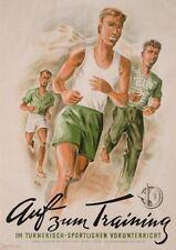 Original Plakat - Auf zum Taining