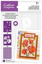 "Crafter's Companion ~ Layering Stencils ~ 3 piece ~ 5x7"" ~ Perfect Poppies"