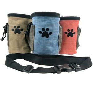 Pet Training Pouch Dog Treat Snack Bag Puppy Walking Dispenser with Clip Belt