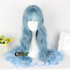 Blue Lolita 65cm Long Cosplay Woman Lady Heat Resistant Japan Anime Party Wig