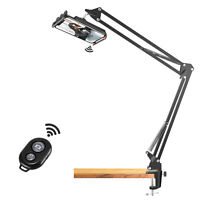 Neewer 33-Inch Overhead Video Stand Phone Mount Table Top Scissor Arm Stand