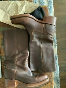 Frye Campus boots sz 10 womens brown made in USA
