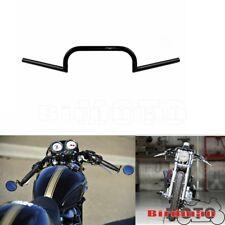 "7/8"" Inch Cafe Racer Ace Style Bars Clubman Style Bars Handle Bars Black Custom"