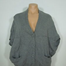 A.N.A Women's Gray Oversize Cardigan Sweater, Dolman Sleeveless size S