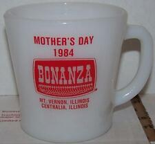 Vintage Anchor Hocking Fire King BONANZA MOTHERS DAY 1984 MT.VERNON CENTRALIA IL