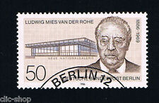 GERMANIA BERLINO BERLIN 1 FRANCOBOLLO LUDWG MIES 1986 timbrato
