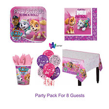 Paw Patrol Girl Birthday Pink Party Supplies PARTY PACK For 8 Guests