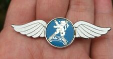 More details for rangers vintage 1970s original insert blue & silver wings pin badge rare vgc
